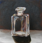 "Chanel No. 5, acrylic on canvas, 6"" x 6"" SOLD"