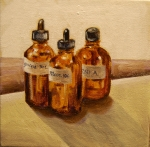 "Homeopathics, acrylic onc anvas, 6"" x 6"" SOLD"