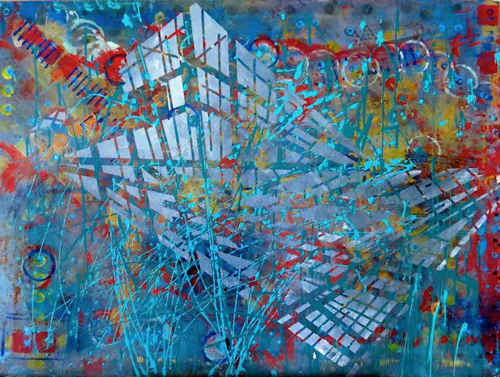 Abstract paintings by Judith Myers